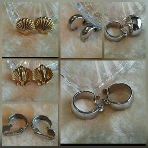 Clip-On Fashion Earrings Lot